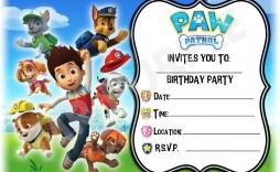 000 Unusual Paw Patrol Birthday Invitation Template Highest Quality  Party Invite Wording Skye Free