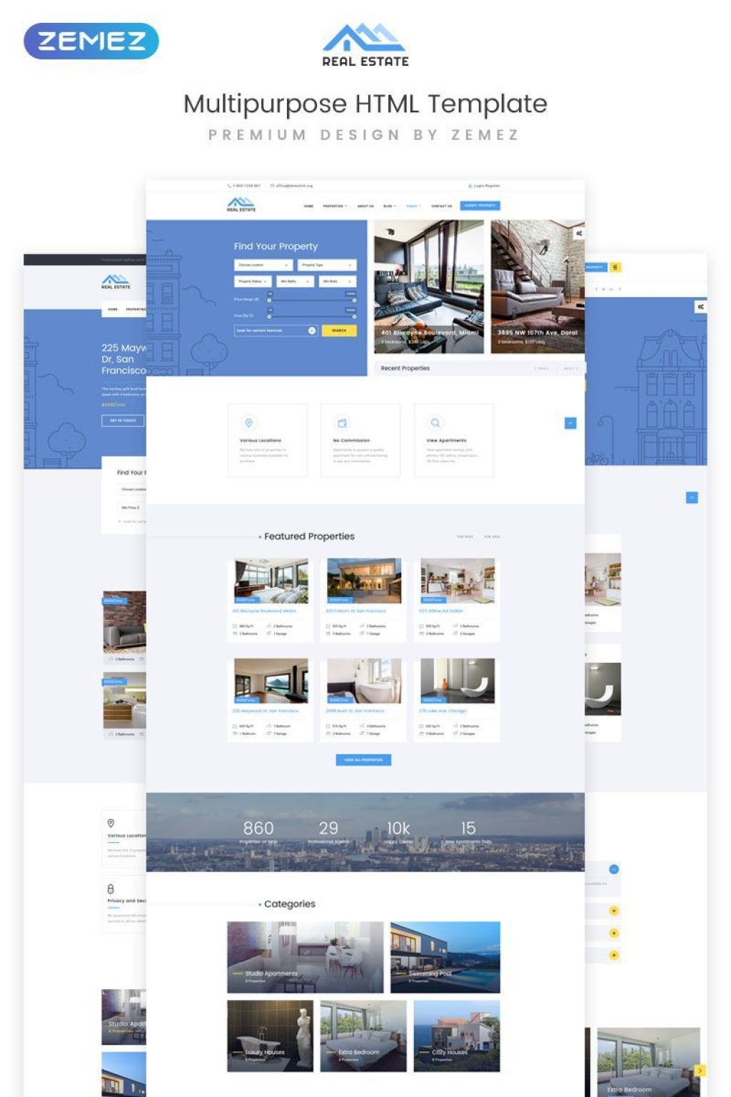000 Unusual Real Estate Website Template Idea  Templates Free Download Bootstrap 4 Listing WordpresLarge