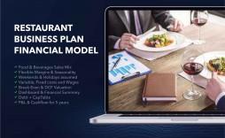 000 Unusual Restaurant Busines Plan Template Excel High Def  Free