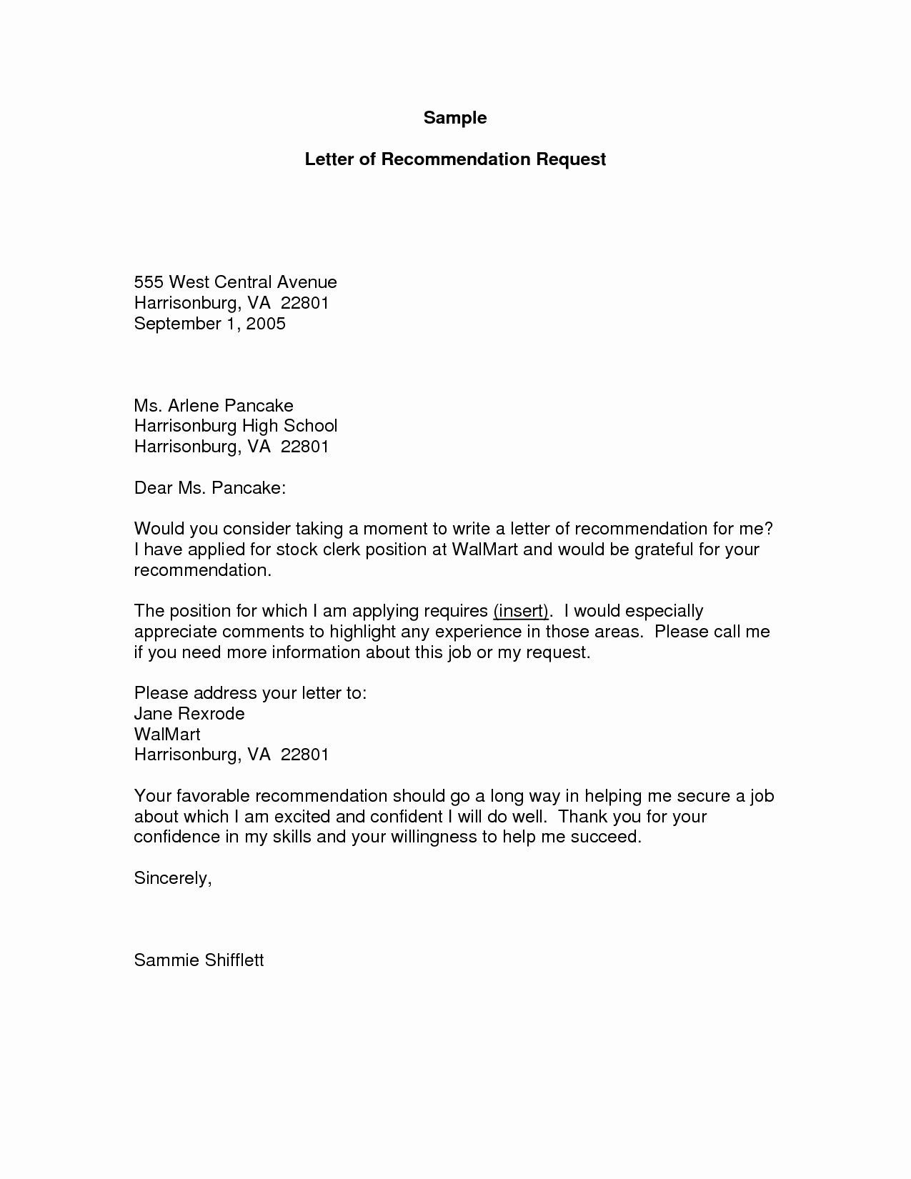 000 Unusual Sample Request For Letter Of Recommendation High Resolution  From Previou Employer NursingFull