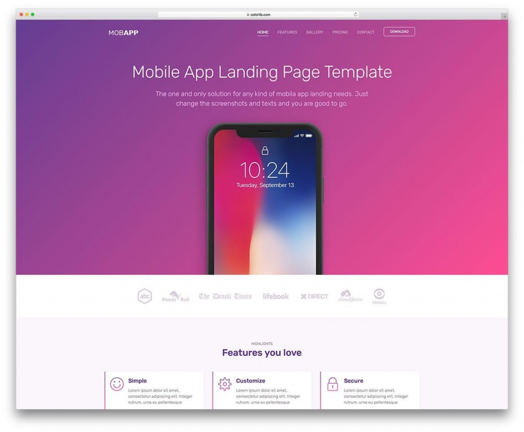 000 Unusual Simple Web Page Template Free Download Image  One Website Html With CsLarge