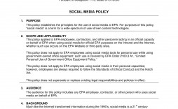 000 Unusual Social Media Policy Template Highest Clarity  Example Nz Australia Free Uk