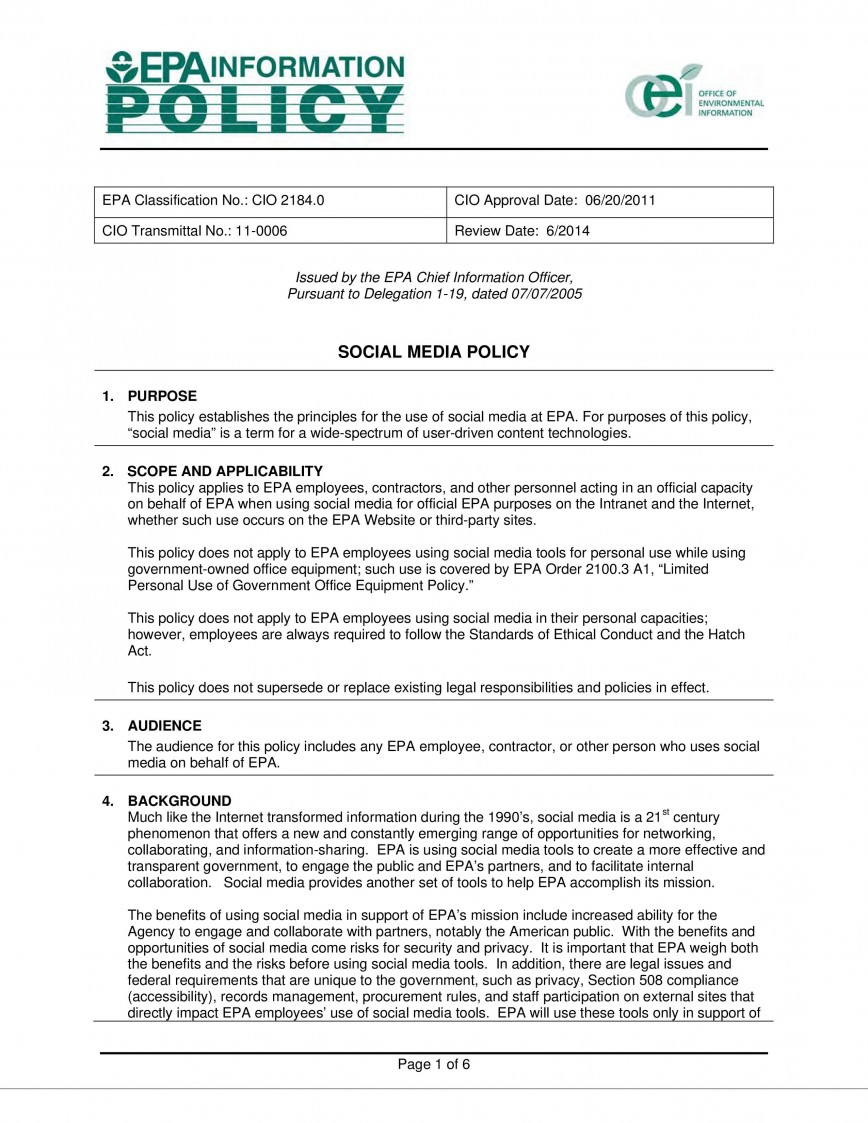 000 Unusual Social Media Policy Template Highest Clarity  Example For Nonprofit Uk South Africa