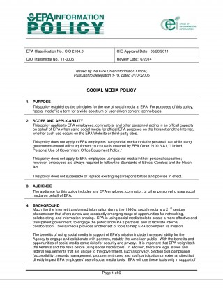 000 Unusual Social Media Policy Template Example  Free320