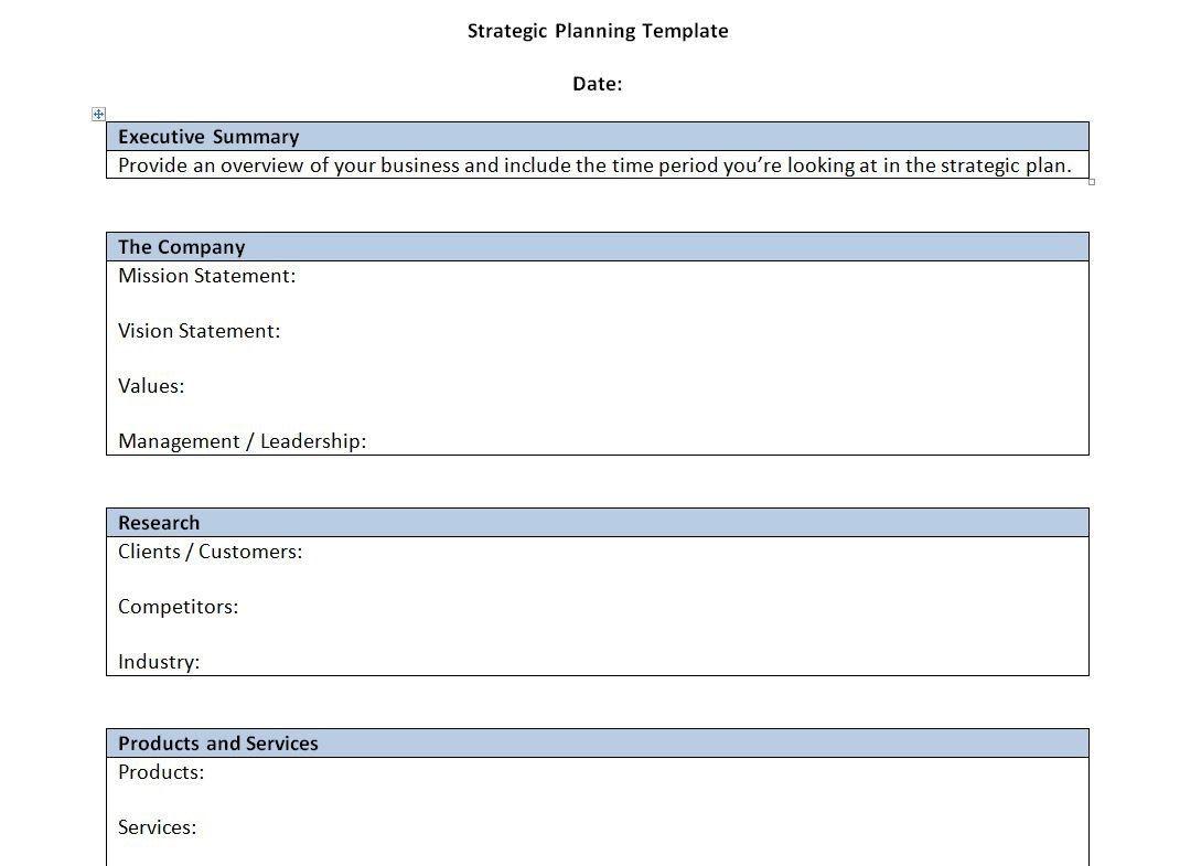 000 Unusual Strategic Plan Outline Template High Resolution  MarketingFull
