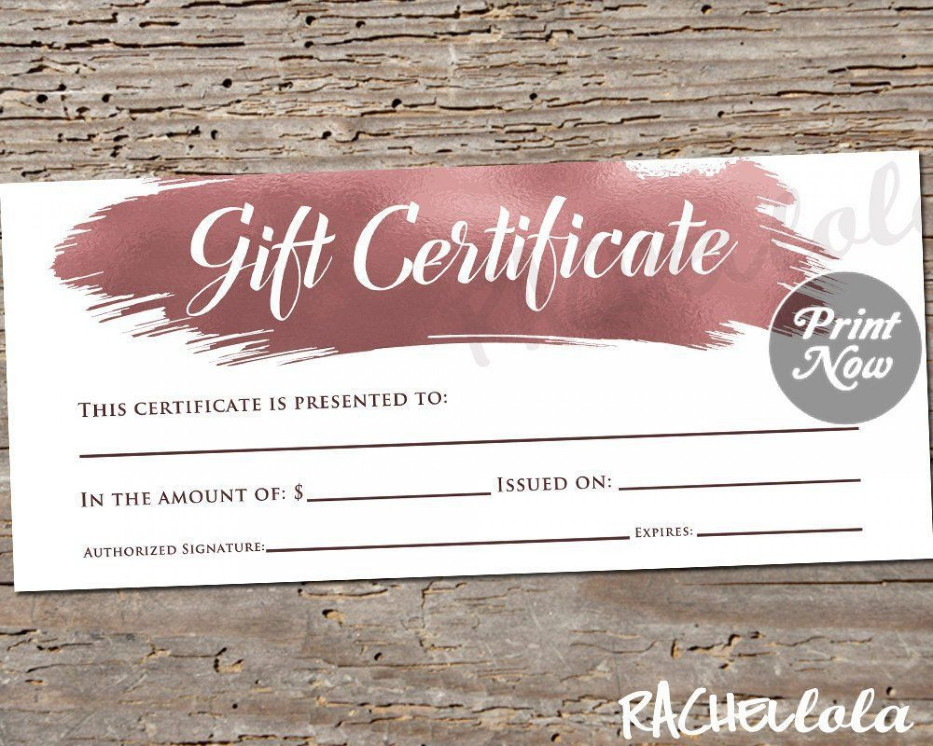000 Unusual Template For Gift Certificate Picture  Voucher Word Free Printable In1920