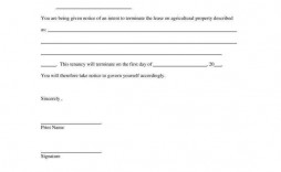 000 Unusual Template Letter To Terminate Rental Agreement Highest Quality  End Lease Tenancy