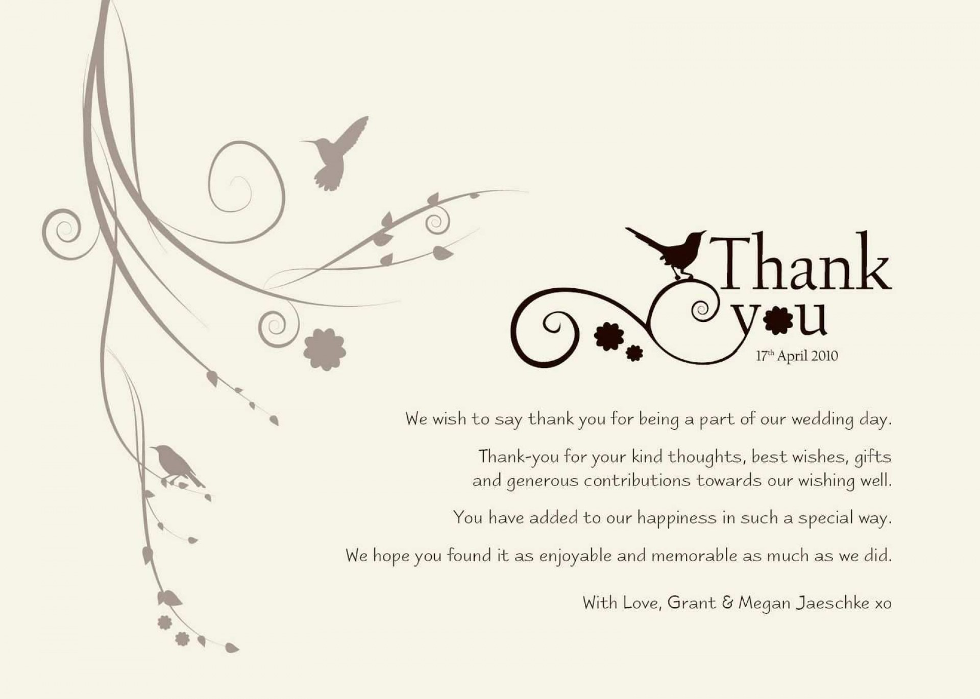 000 Unusual Thank You Note Template Word 2010 High Resolution 1920