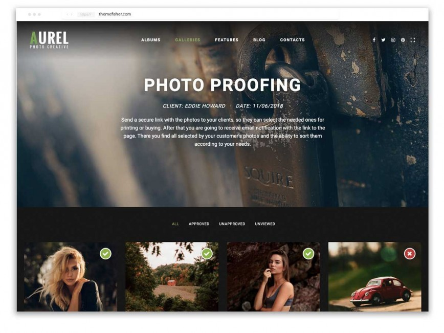000 Unusual Web Template For Photographer Image  Photography868
