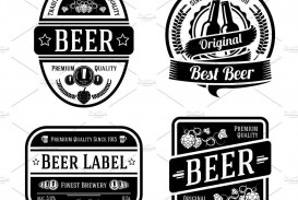 000 Wonderful Beer Label Design Template High Resolution  Free