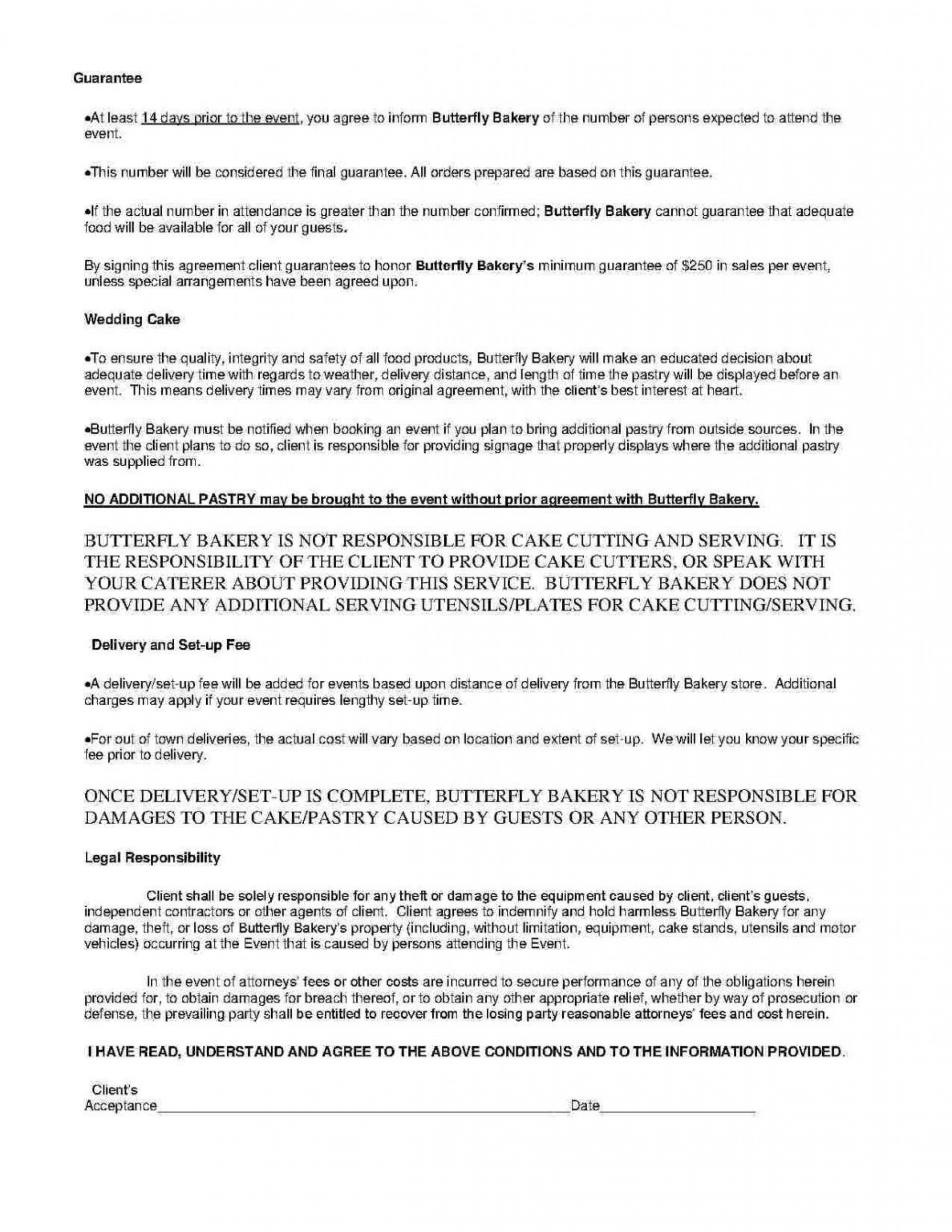 000 Wonderful Catering Contract Template Free Inspiration  Word Sample Printable1920