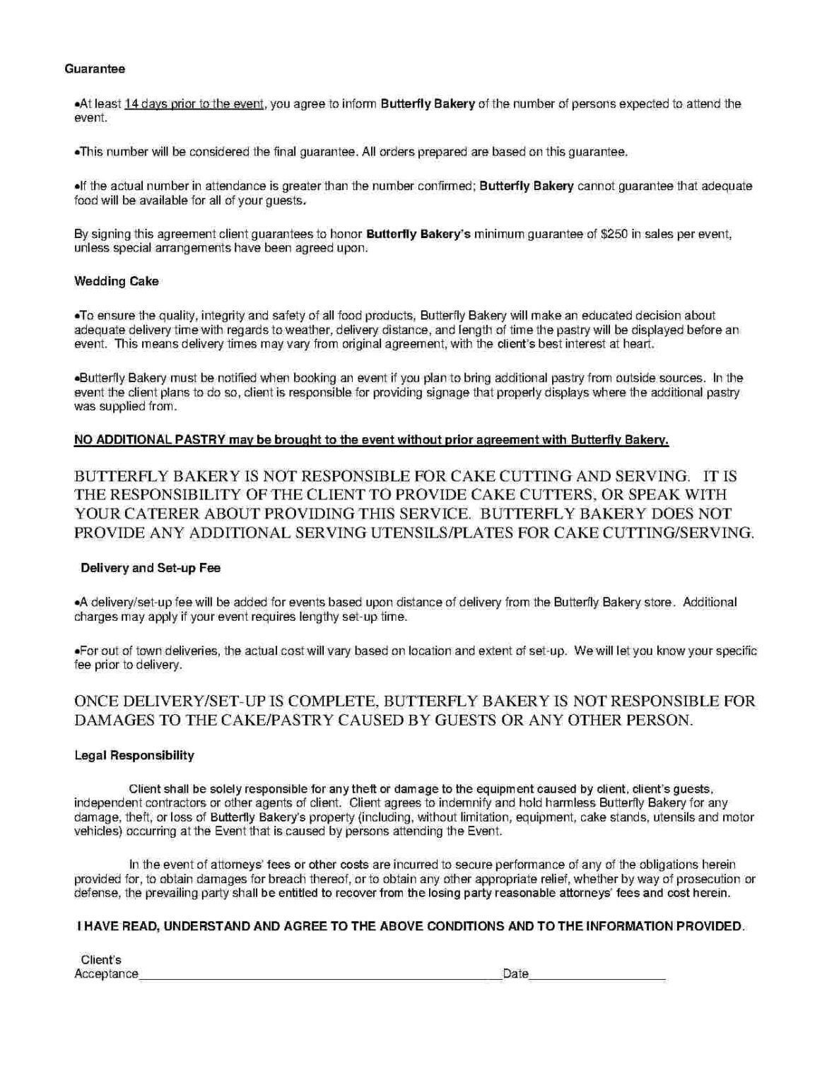 000 Wonderful Catering Contract Template Free Inspiration  Service SampleFull