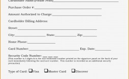 000 Wonderful Credit Card Payment Form Template Pdf Concept  Authorization
