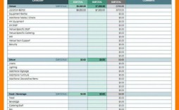 000 Wonderful Event Planner Budget Template Excel Sample  Planning Spreadsheet Party