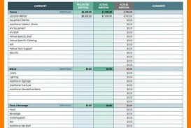 000 Wonderful Event Planner Budget Template Excel Sample  Party Planning Spreadsheet