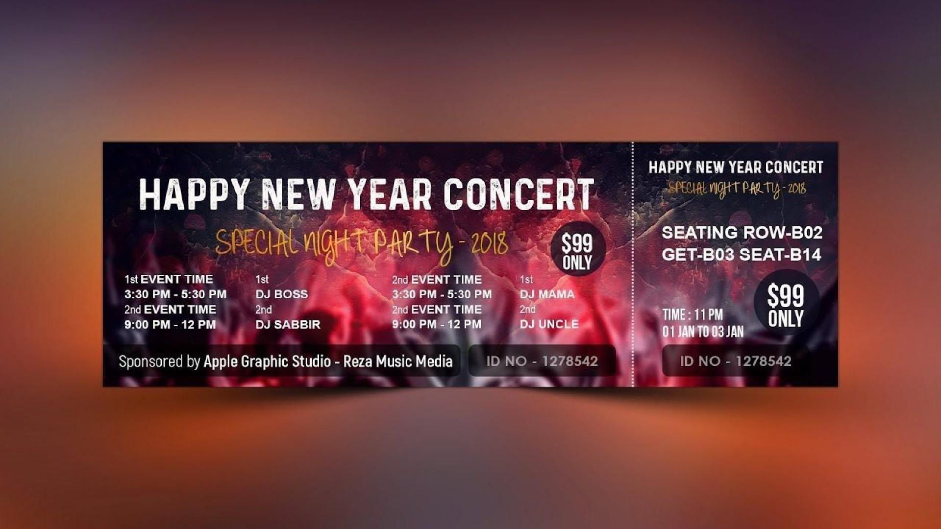 000 Wonderful Event Ticket Template Photoshop Idea  Design Psd Free Download1920