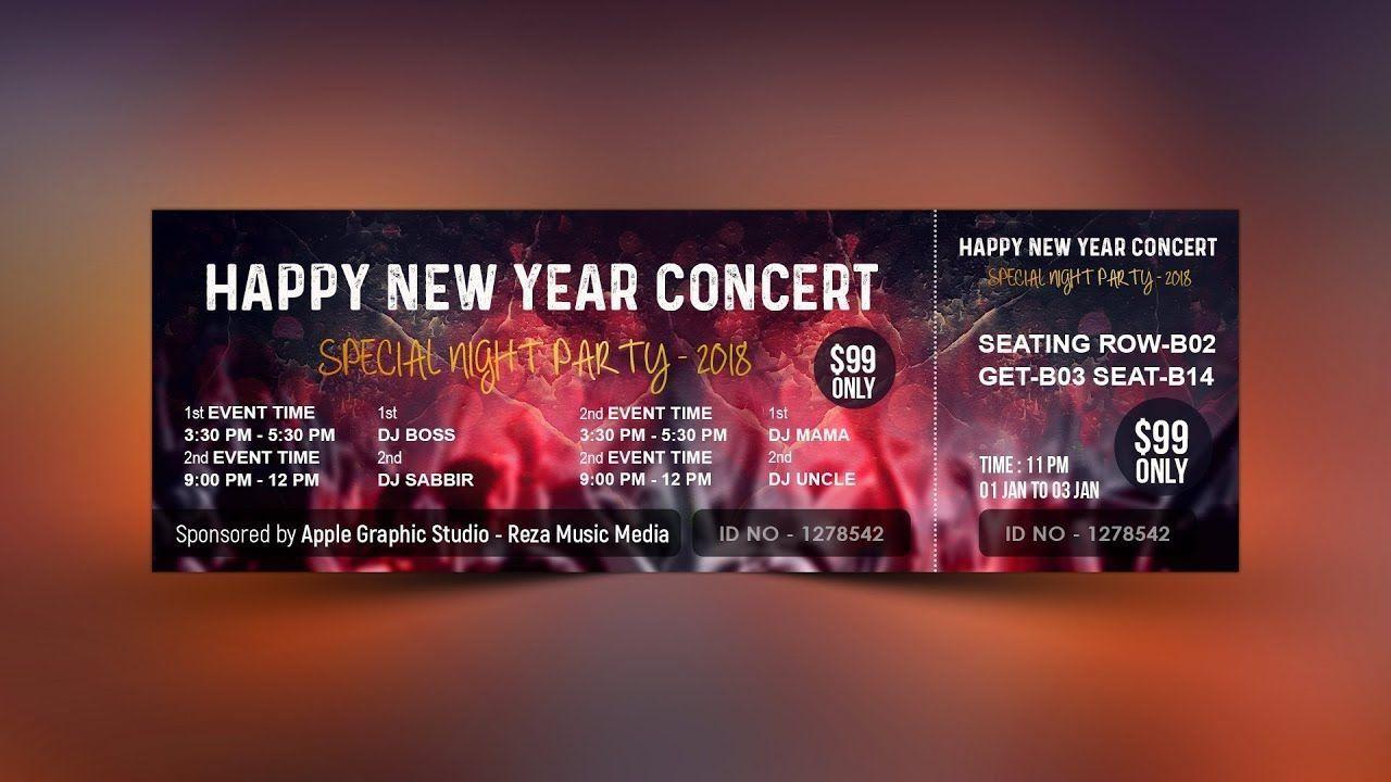 000 Wonderful Event Ticket Template Photoshop Idea  Design Psd Free DownloadFull
