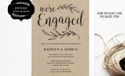 000 Wonderful Free Engagement Invitation Template Online With Photo Design