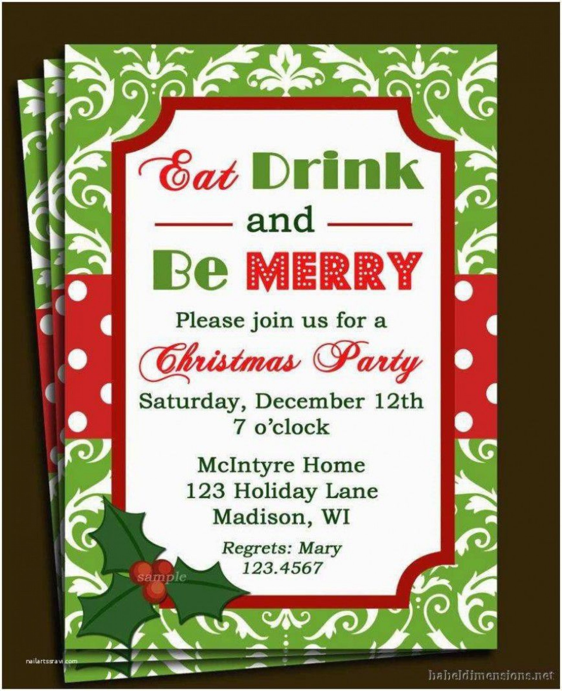 000 Wonderful Free Holiday Invite Template High Definition  Templates Party Ticket For Email1920