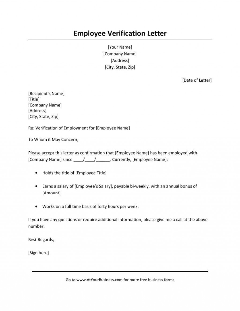 000 Wonderful Free Income Verification Form Template Image Large