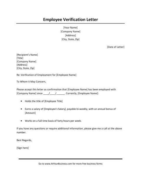 000 Wonderful Free Income Verification Form Template Image 480