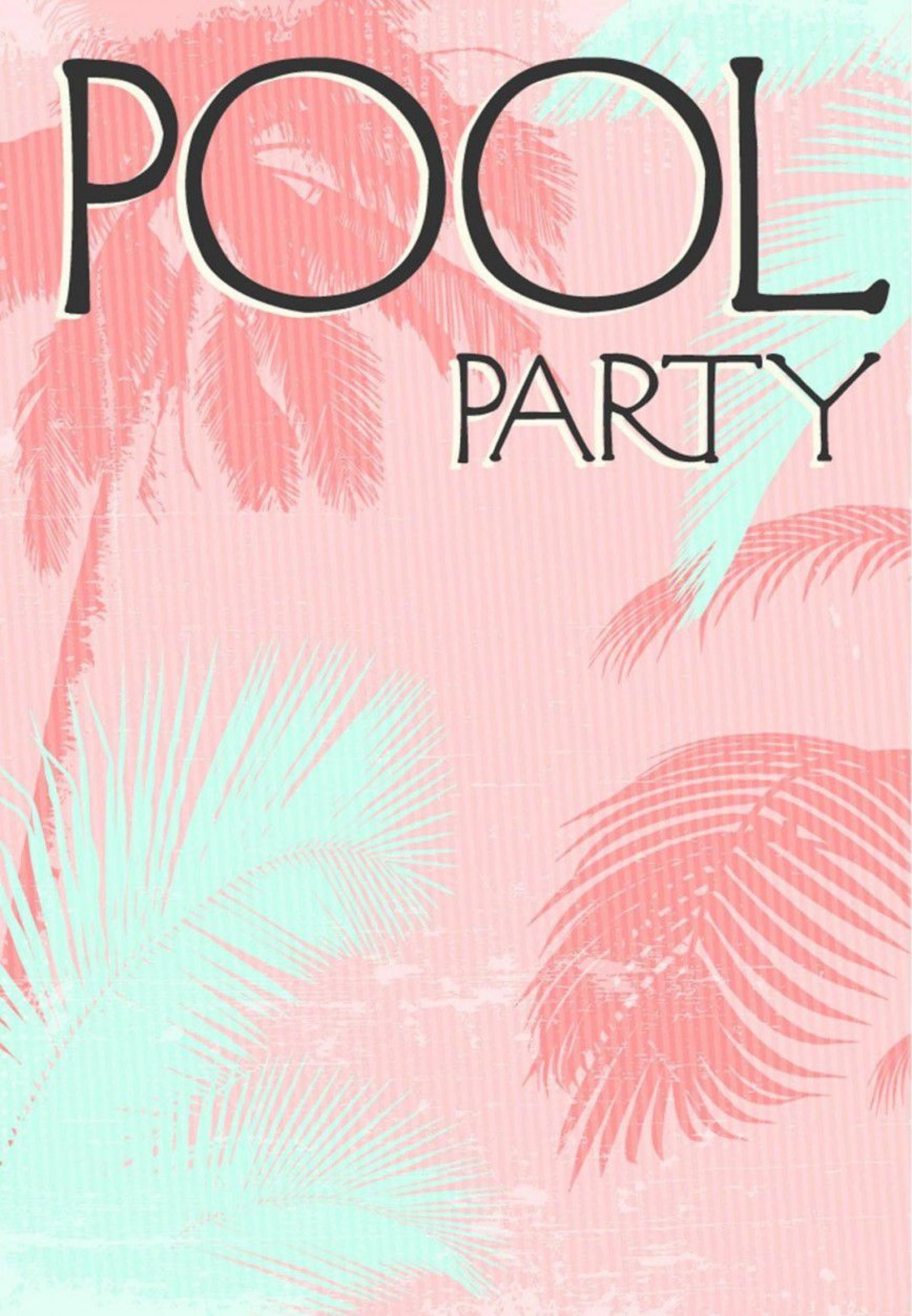 000 Wonderful Free Pool Party Invitation Template Printable Photo  Card Summer1920