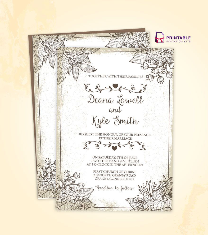 000 Wonderful Free Wedding Invitation Template Download Example  Psd Card IndianFull