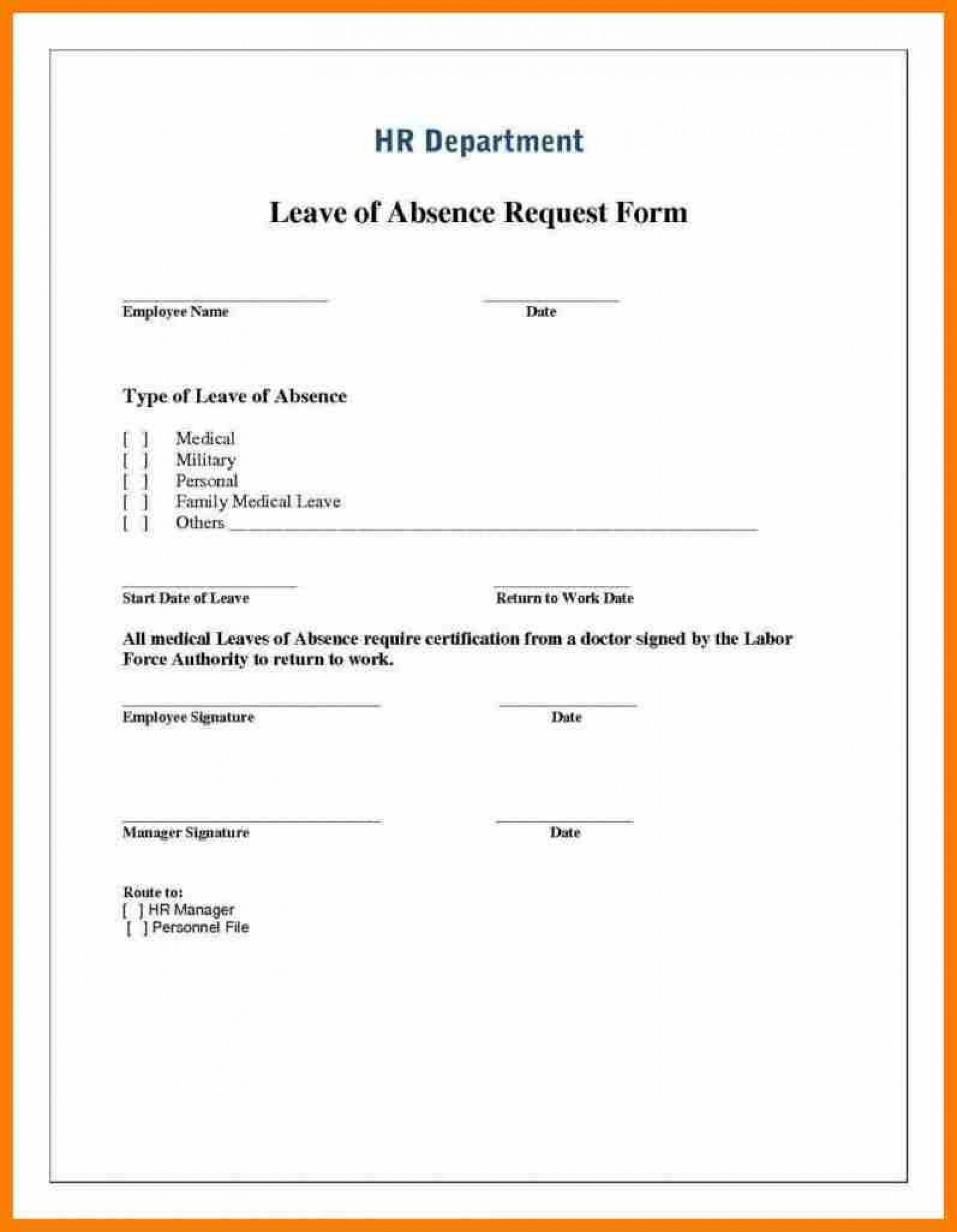000 Wonderful Leave Of Absence Form Template Photo  Medical Request Free1920