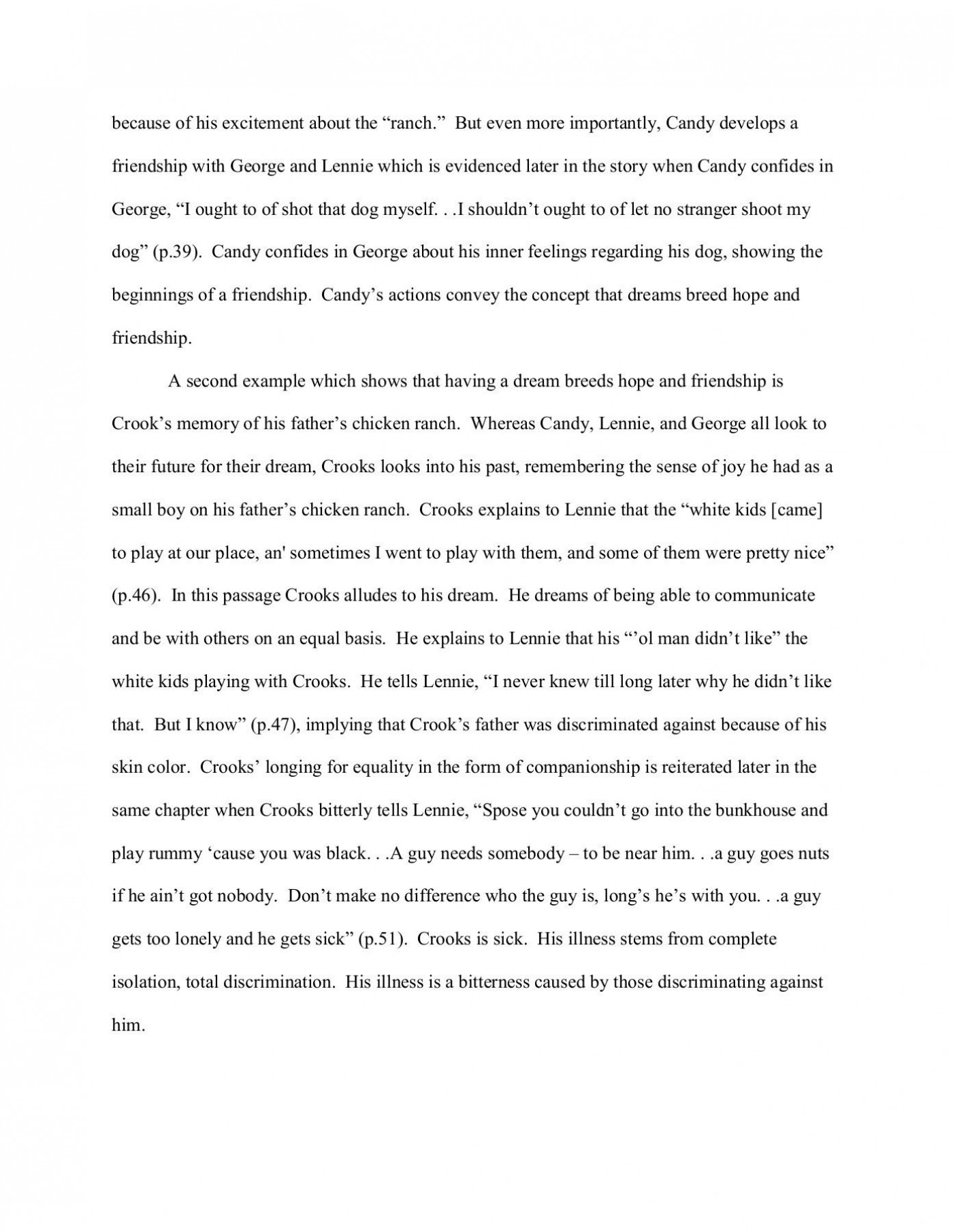 000 Wonderful Of Mice And Men Essay Sample  Prompt Topic1400