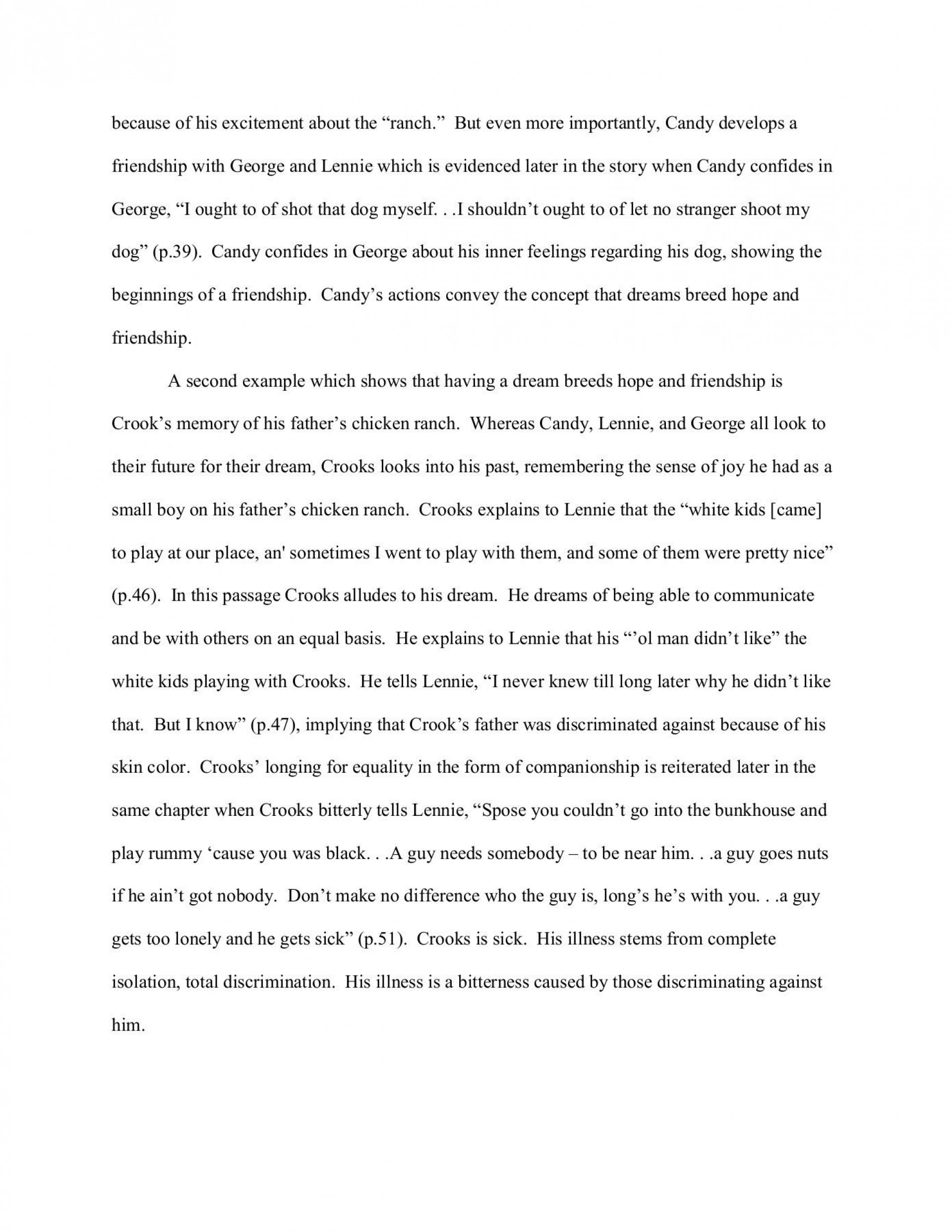 000 Wonderful Of Mice And Men Essay Sample  Prompt Topic1920