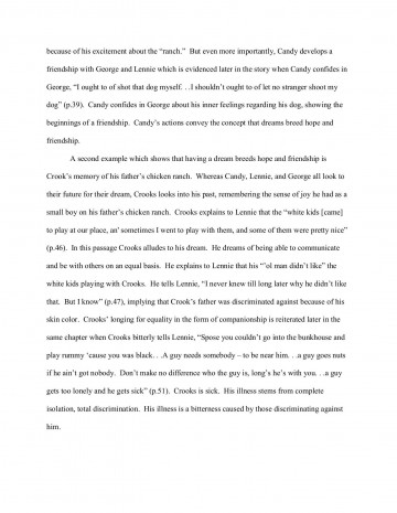 000 Wonderful Of Mice And Men Essay Sample  Prompt Topic360