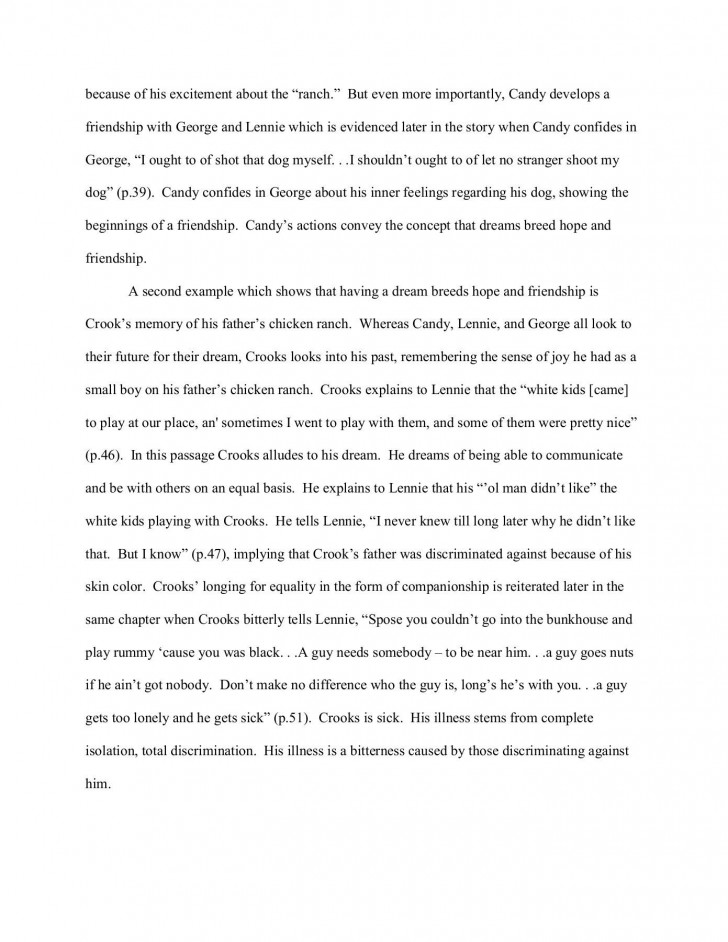 000 Wonderful Of Mice And Men Essay Sample  Prompt Topic728