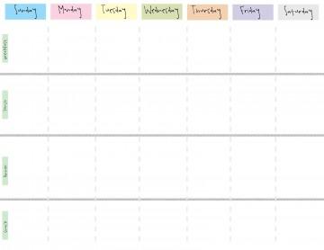 000 Wonderful Printable Weekly Planner Template Cute Photo  Free Calendar360