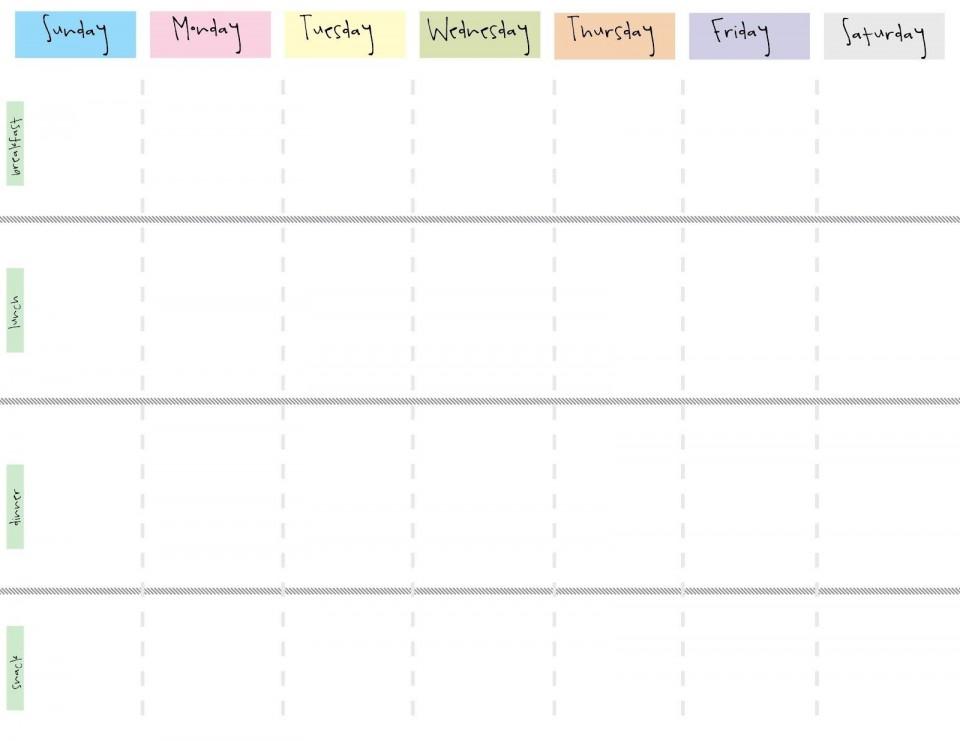 000 Wonderful Printable Weekly Planner Template Cute Photo  Free Calendar960
