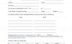 000 Wonderful Registration Form Template Word High Def  Conference Free