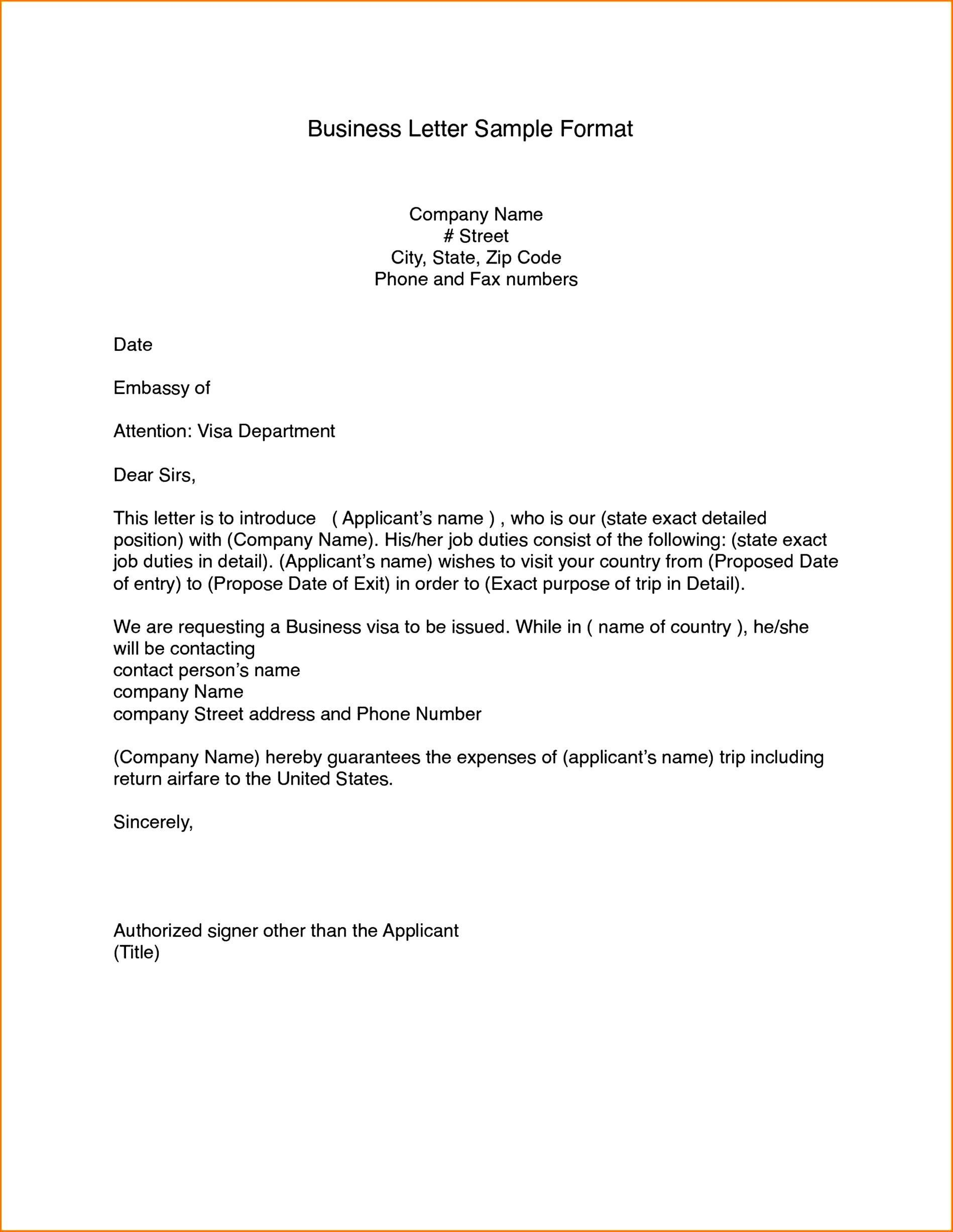 Template For Business Letter Addictionary
