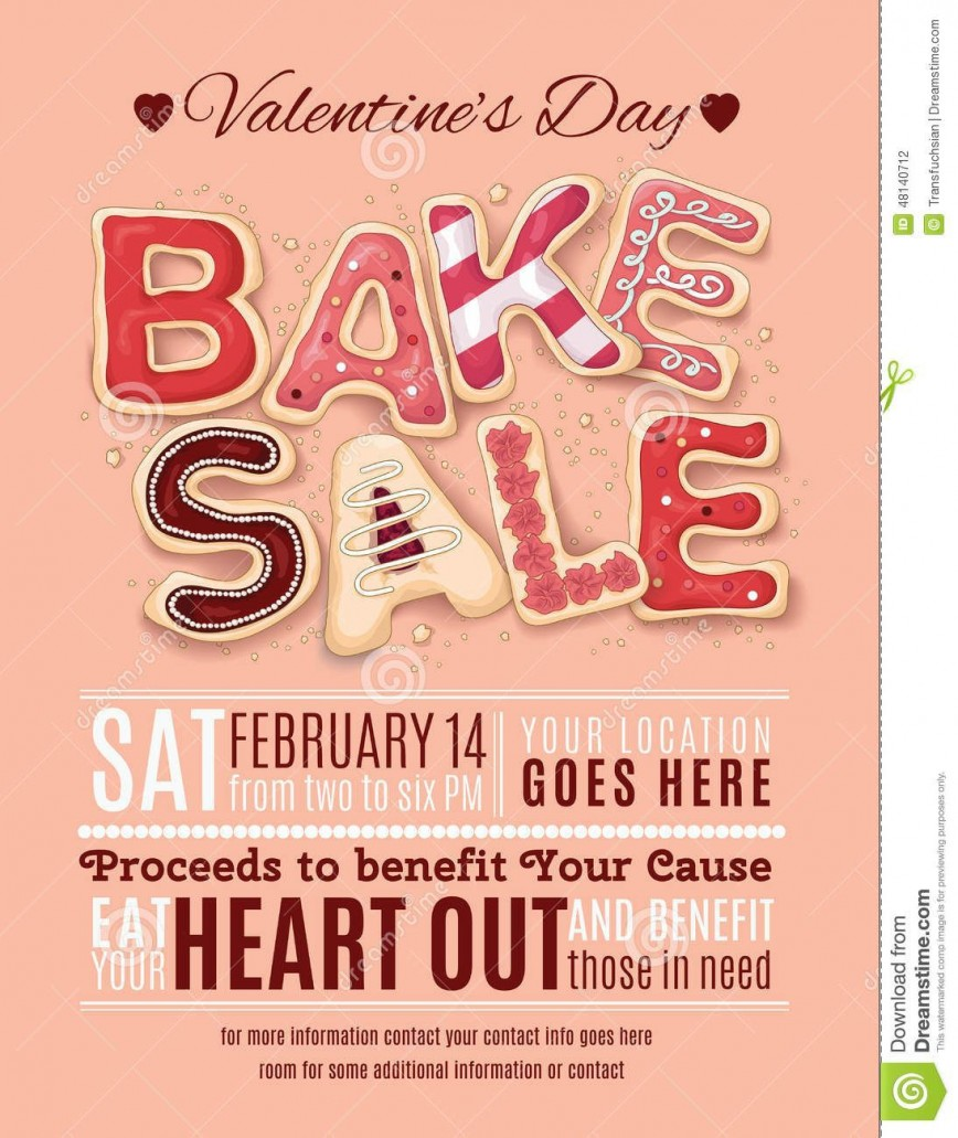 000 Wonderful Valentine Bake Sale Flyer Template Free Example  Valentine'