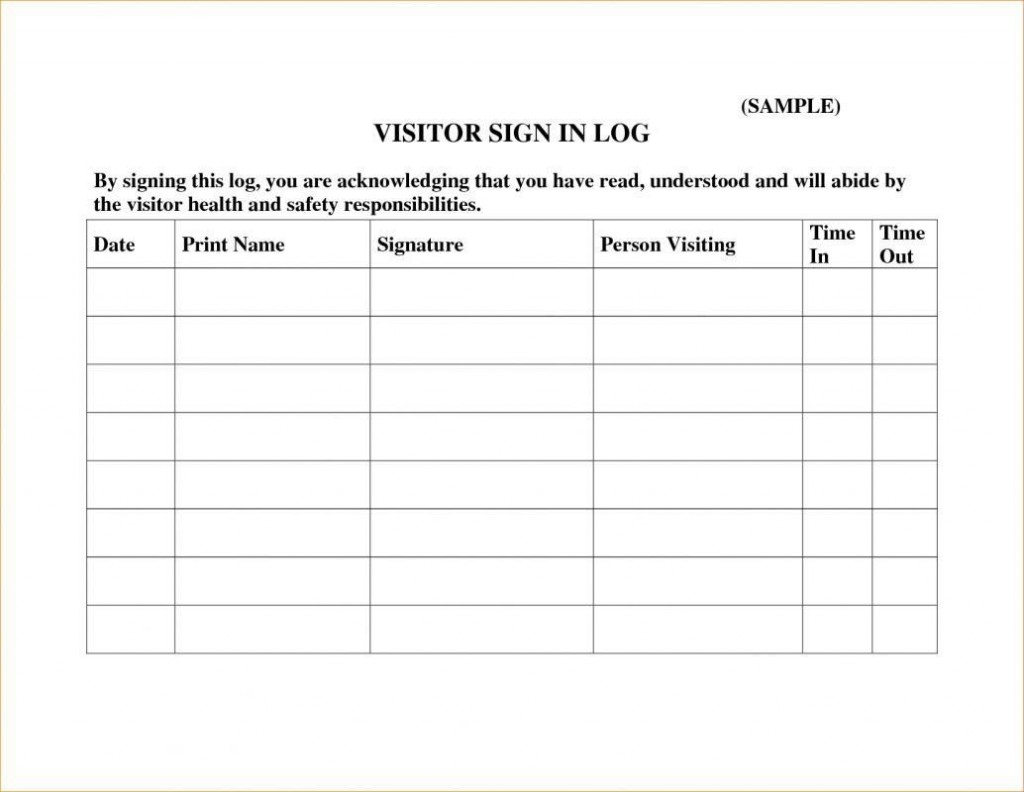 000 Wonderful Visitor Sign In Sheet Template Pdf Sample Large