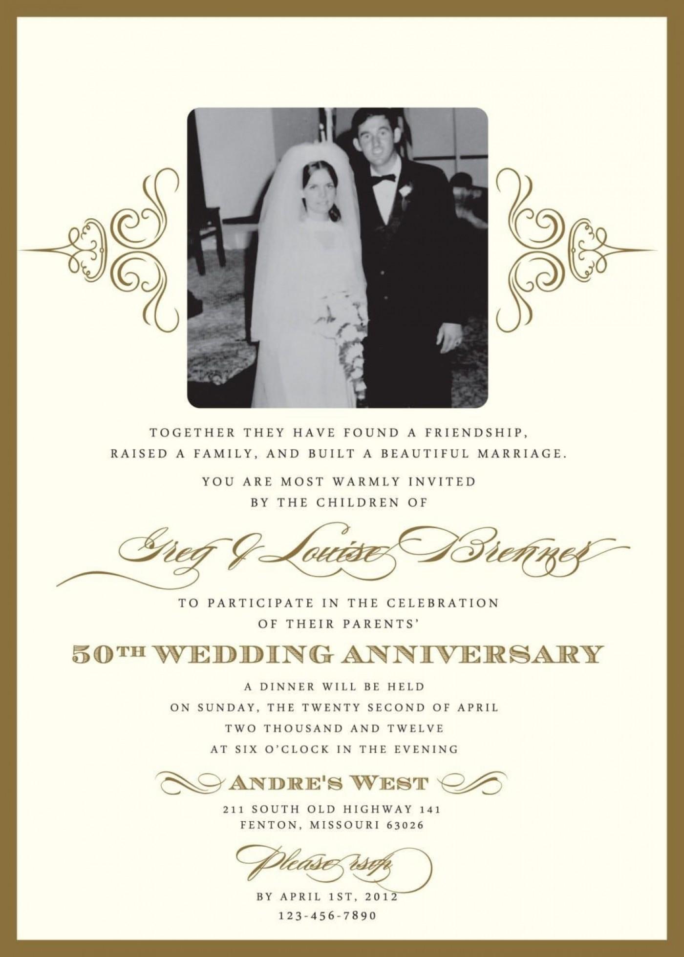 000 Wondrou 50th Anniversary Invitation Template High Resolution  Wedding Microsoft Word Free Download1400
