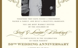 000 Wondrou 50th Anniversary Invitation Template High Resolution  Templates Party Golden Wedding Free Download