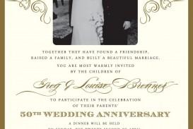 000 Wondrou 50th Anniversary Invitation Template High Resolution  Wedding Microsoft Word Free Download