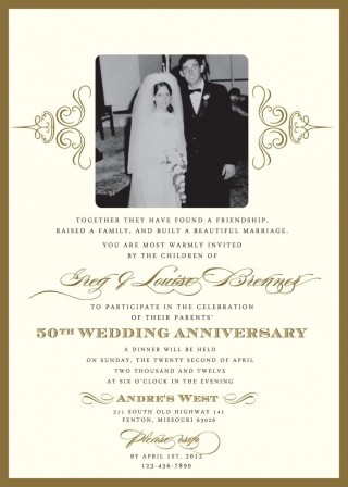000 Wondrou 50th Anniversary Invitation Template High Resolution  Wedding Microsoft Word Free Download320