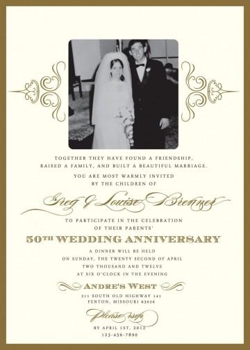 000 Wondrou 50th Anniversary Invitation Template High Resolution  Wedding Microsoft Word Free Download360