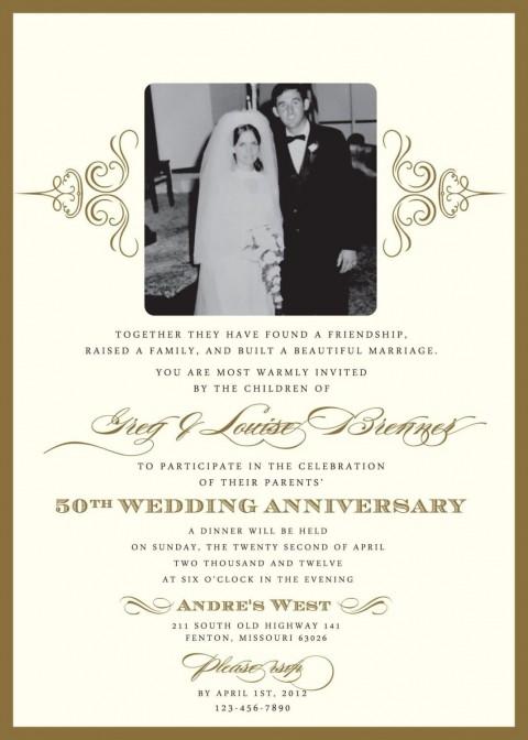 000 Wondrou 50th Anniversary Invitation Template High Resolution  Wedding Microsoft Word Free Download480