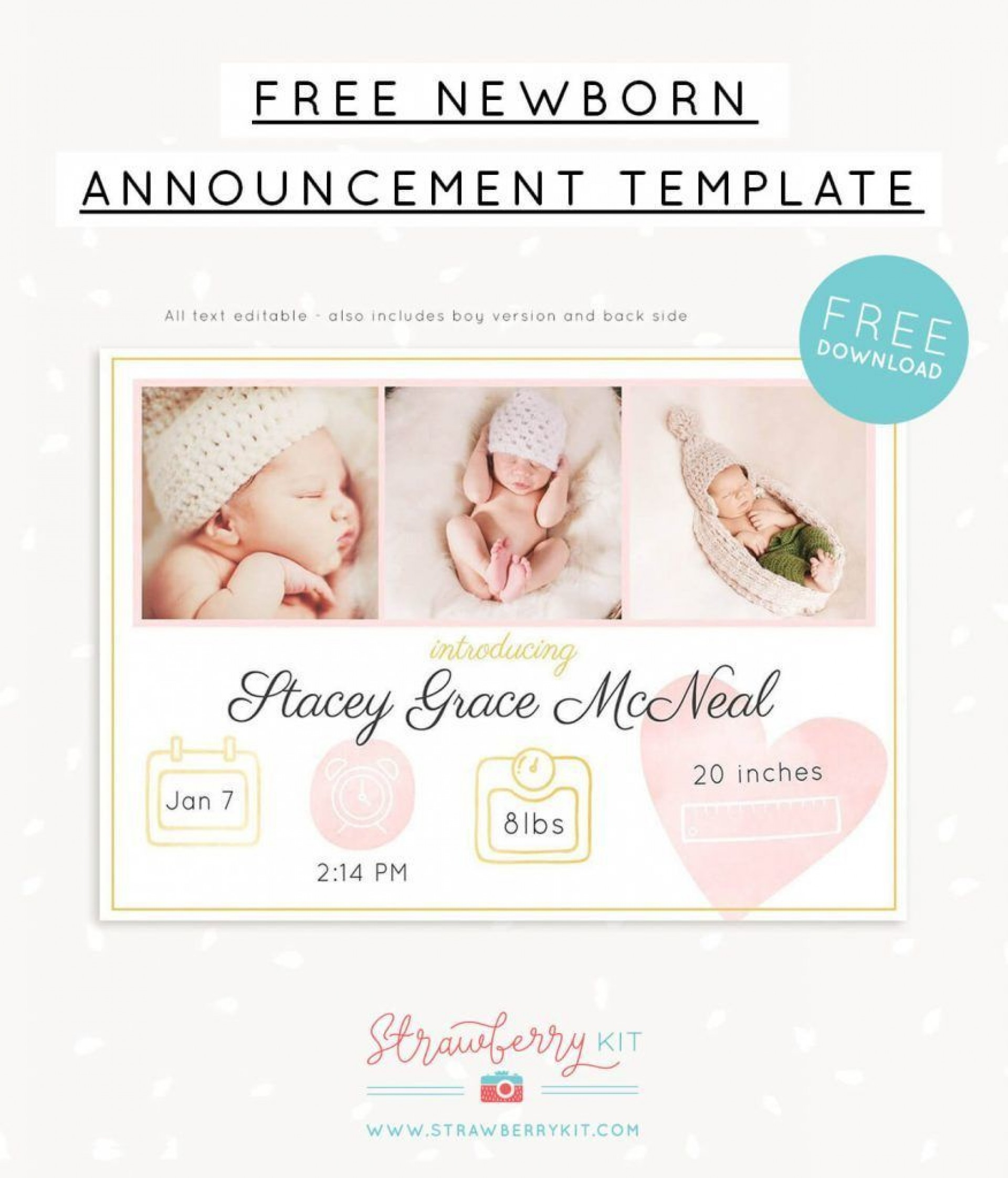 000 Wondrou Free Baby Announcement Template Example  Templates Boy Photoshop Printable Shower Invite1920
