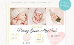 000 Wondrou Free Baby Announcement Template Example  Templates Boy Photoshop Printable Shower Invite