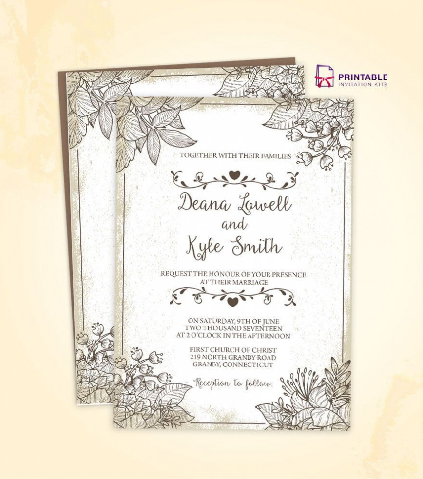 000 Wondrou Free Download Wedding Invitation Template Example  Marathi Video Maker Software Editable Rustic For Word868