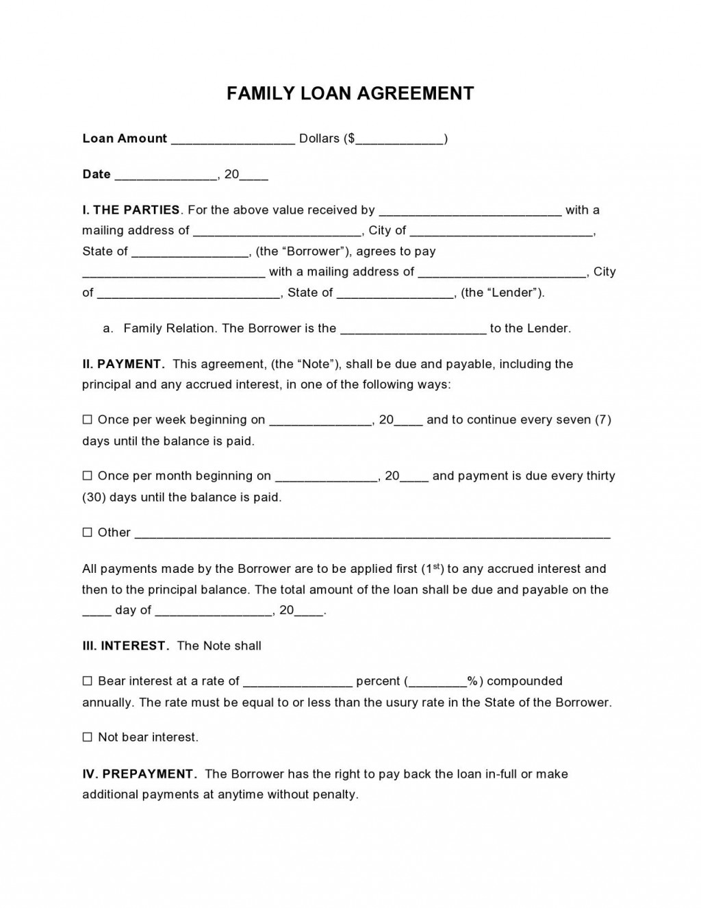 000 Wondrou Free Family Loan Agreement Template Nz High Definition Large