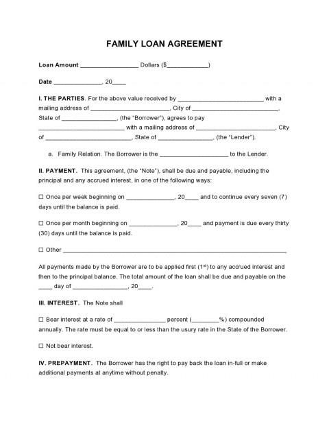 000 Wondrou Free Family Loan Agreement Template Nz High Definition 480