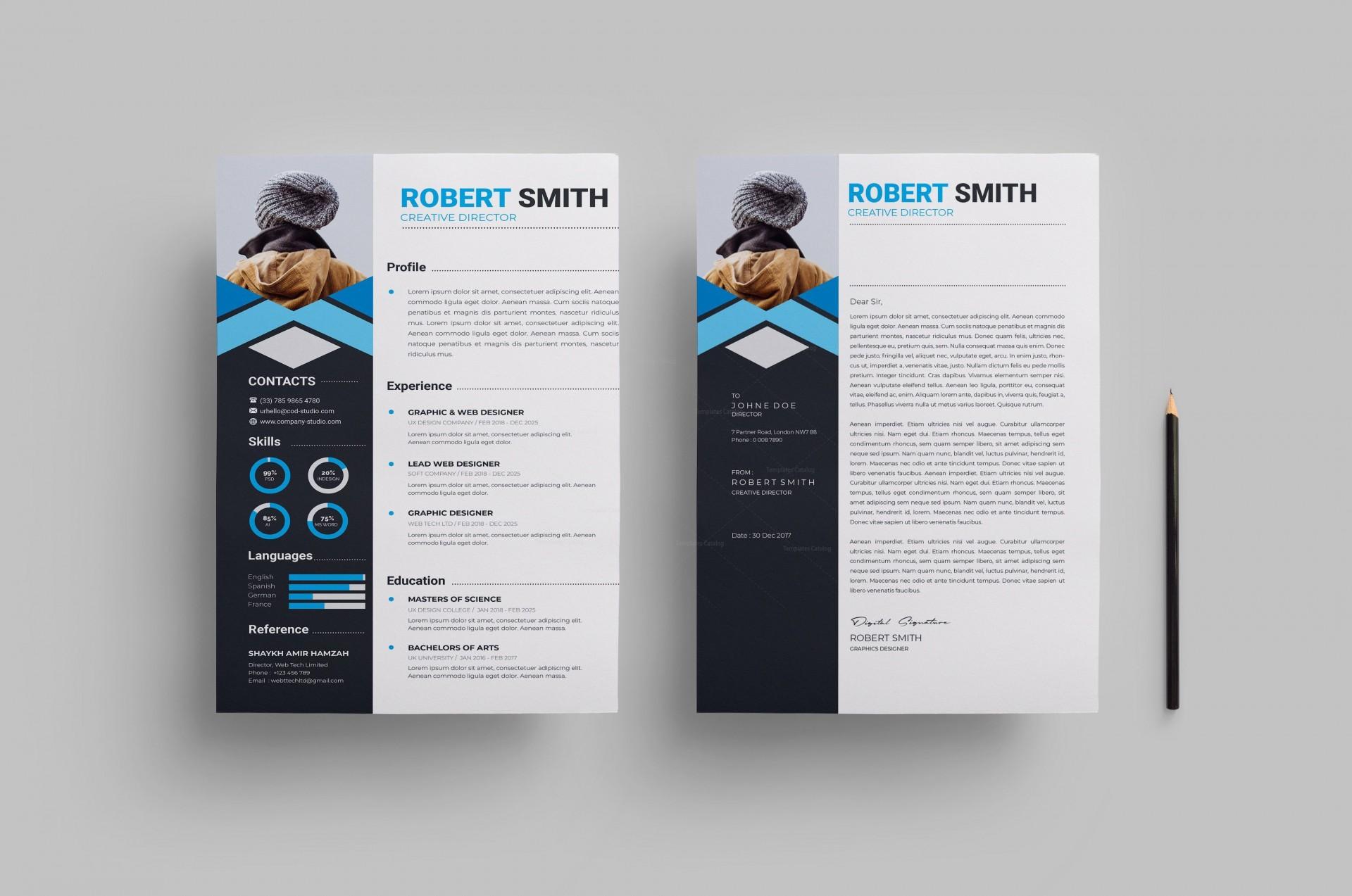 000 Wondrou Free Stylish Resume Template Photo  Templates Word Download1920
